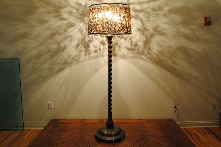 Lamp shades for antique floor lamps