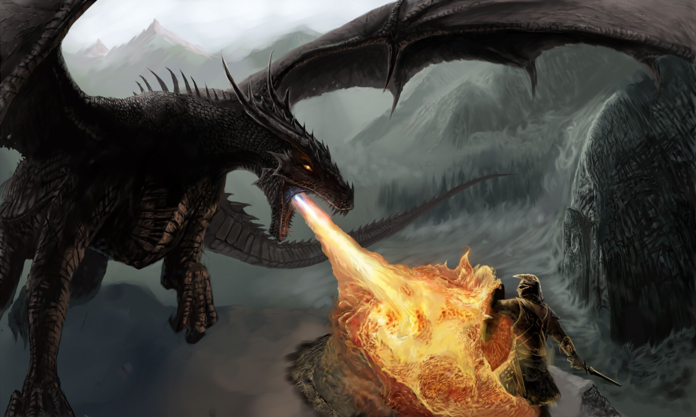 Skyrim Dragon: The Elder Scrolls V: Skyrim Wallpapers Images Photos