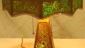 Tiffany Slag Glass Antique Desk Lamps