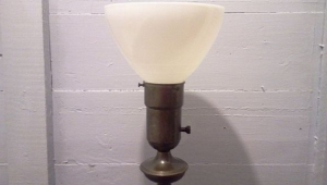 Vintage Floor Lamps With Glass Shades