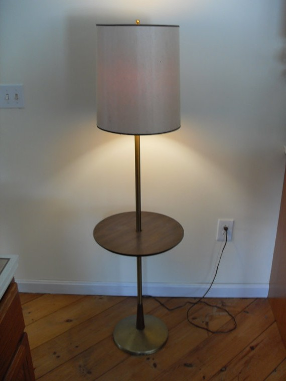 Vintage floor lamps in tables