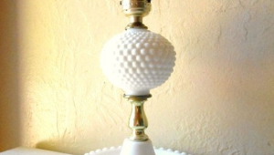 Vintage Hobnail Milk Glass Lamps