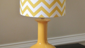 Yellow Drum Lamp Shades