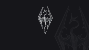 Skyrim Logo Wallpaper