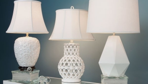 White Lampshades