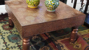 Antique Copper Coffee Table