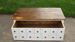 Apothecary Design Table With Trick Drawers