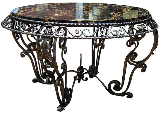 Wrought Iron Table ~ Wrought iron coffee table design images photos pictures