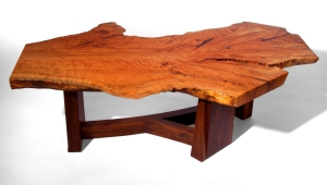 Beech Wood Slab Coffee Table