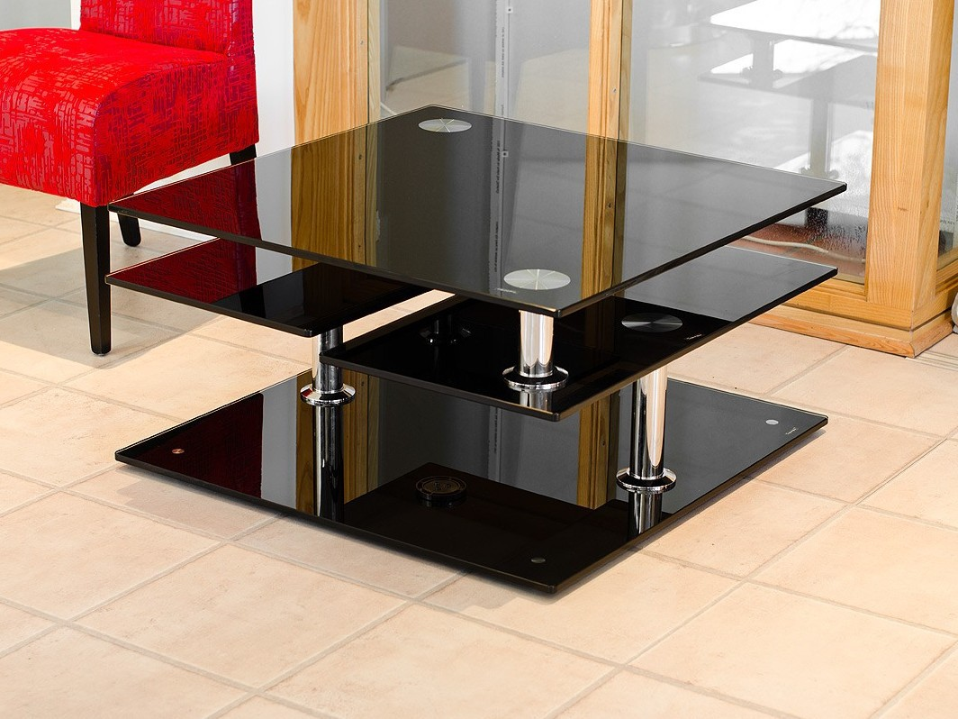 Black coffee table design images photos pictures Black coffee table with glass