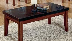 Black Granite Coffee Table