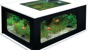 Black And White Aquarium Coffee Table