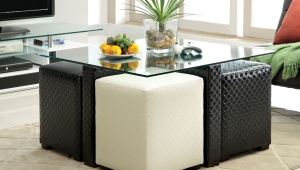 Black And White Ottoman Coffee Table