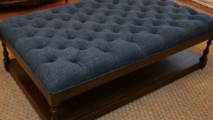 Blue Upholstered Coffee Table