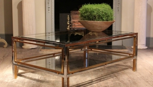 Brass And Chrome Coffee Table