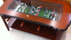 Brown Foosball Coffee Table