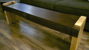 Cherry Wood Slab Coffee Table