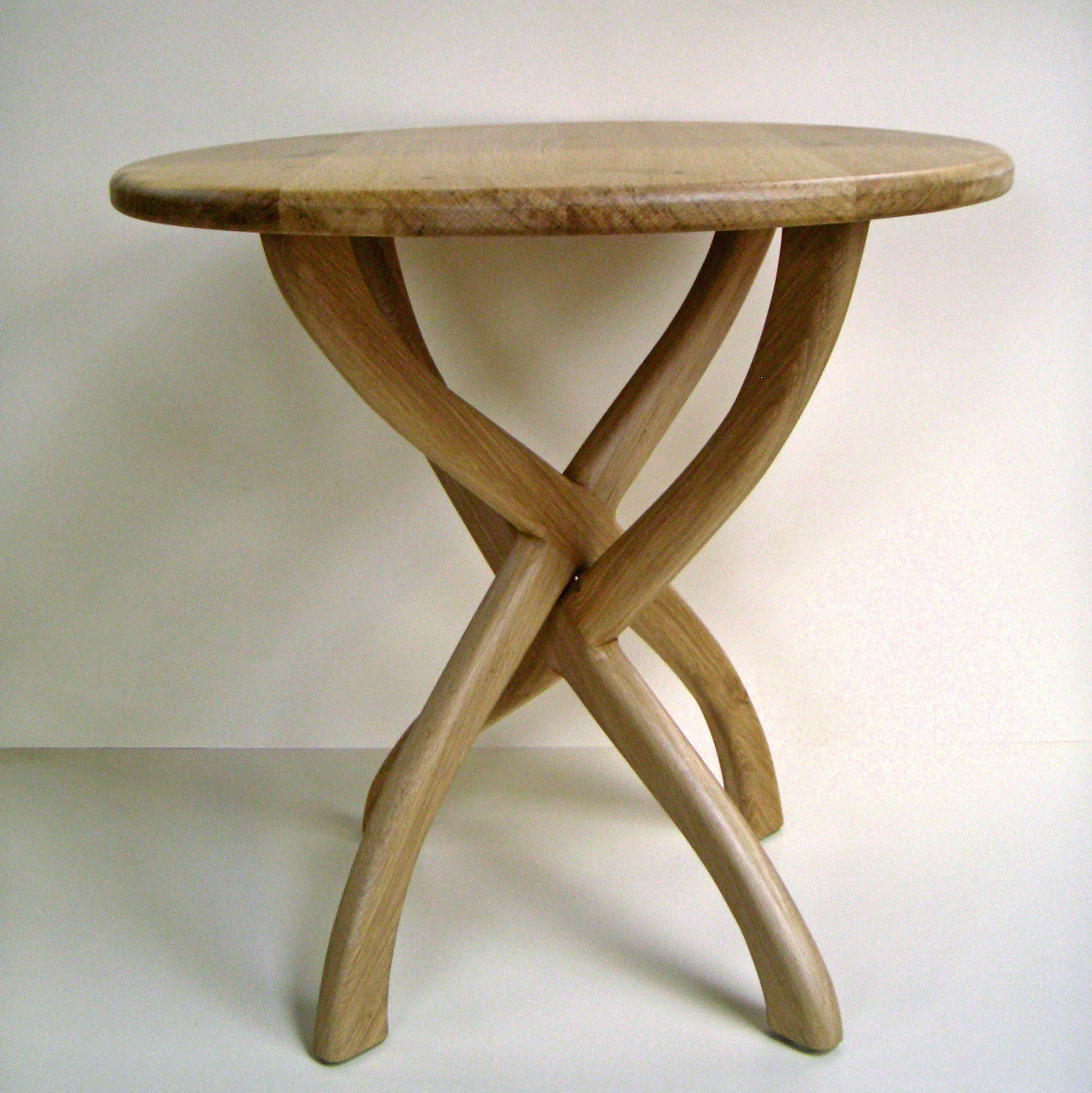 Circular Oak Occasional Table