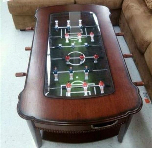 Classic Foosball Coffee Table - Foosball Coffee Table Design Images Photos Pictures