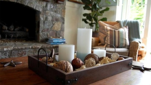 Coffee Table Massive Candle Centerpieces With Tray