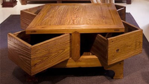 Coffee Table With Corner Drawers