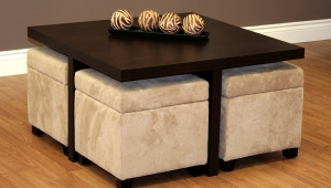 Coffee Table With Stools Underneath
