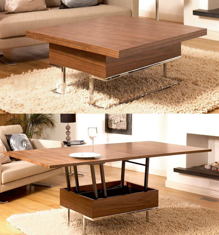 Convertible coffee tables design images photos pictures - Small space convertible furniture image ...