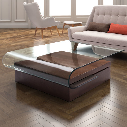 Contemporary glass coffee table design images photos pictures for Contemporary glass top coffee table