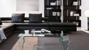 Contemporary Glass Living Room Coffee Table