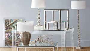 Contemporary Glass Wisteria Coffee Table