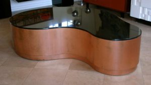 Copper And Granite Coffee Table