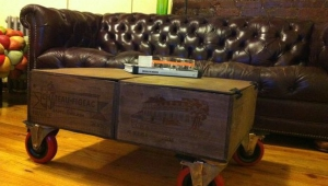 Crate Coffee Table With Wheels