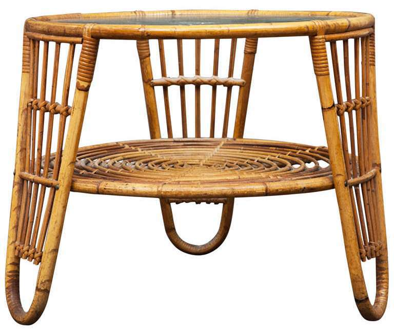 Bamboo Table With Design