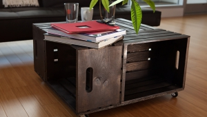 Dark Crate Coffee Table