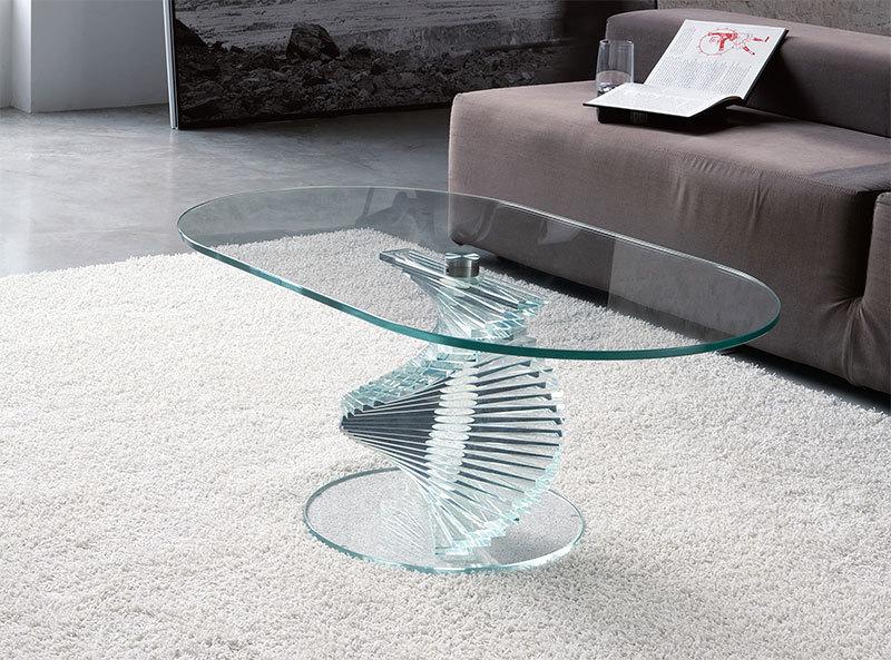 Modern Coffee Table  Burl Wood Coffee Table Glass Top