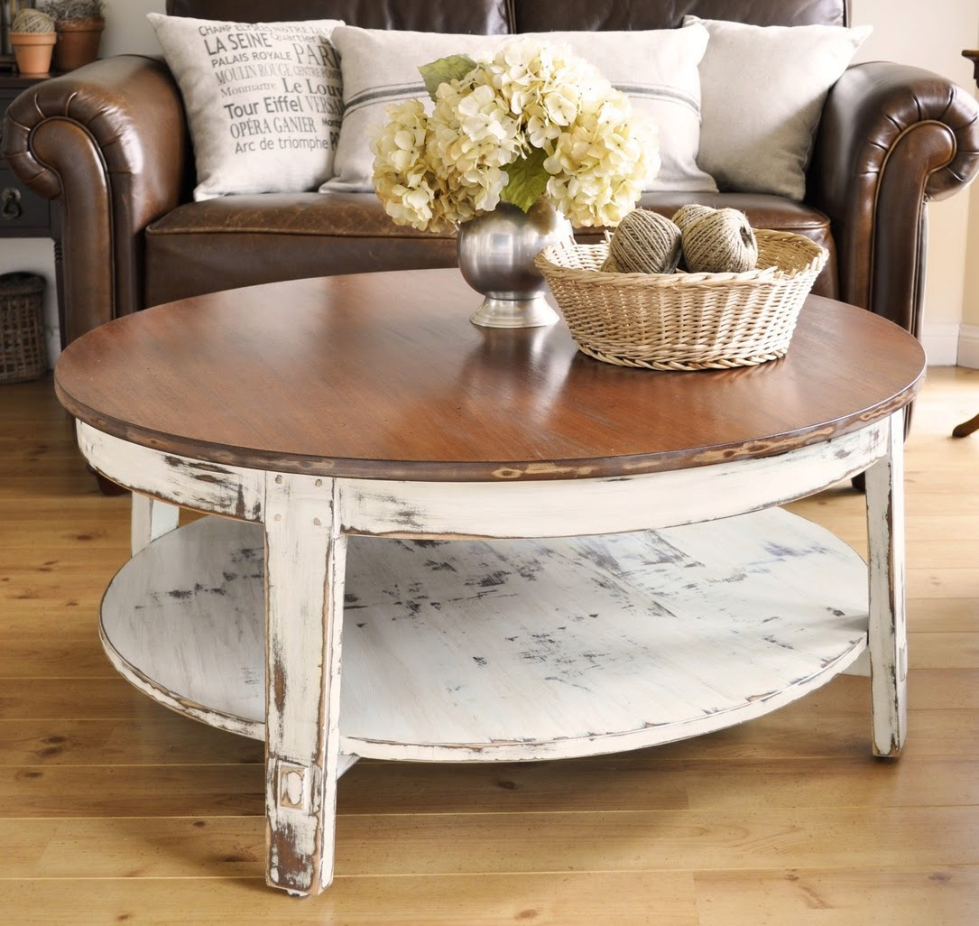 Distressed Round Coffee Tables: Distressed Coffee Table Design Images Photos Pictures