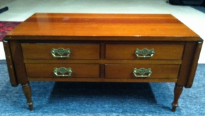 Drop Leaf Coffee Table With Drawers