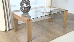 Durable Wood And Metal Coffee Table