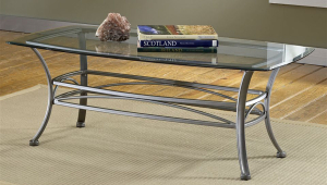 Easy Glass And Metal Coffee Table