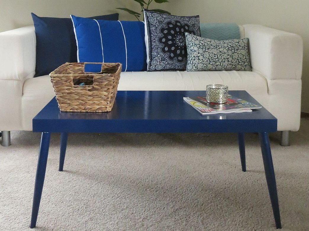 Elegant Blue Coffee Table - Blue Coffee Table Design Images Photos Pictures