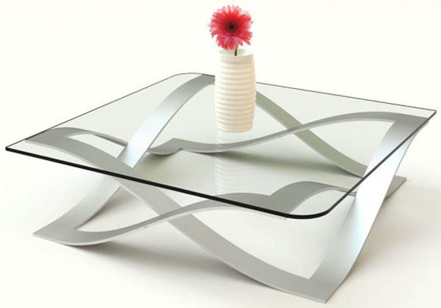 Glass and metal coffee table design images photos pictures for Contemporary glass coffee tables