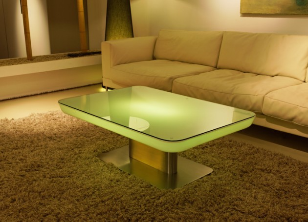 Led coffee table design images photos pictures Led coffee table