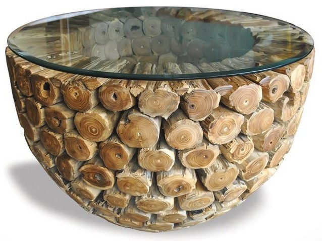 Exclusive log coffee table Exclusive coffee tables