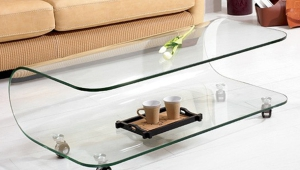 Glass Coffee Table With Wheels