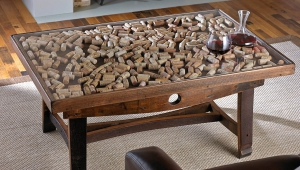 Glass Display Cork Coffee Table