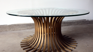 Glass Top Pedestal Coffee Table