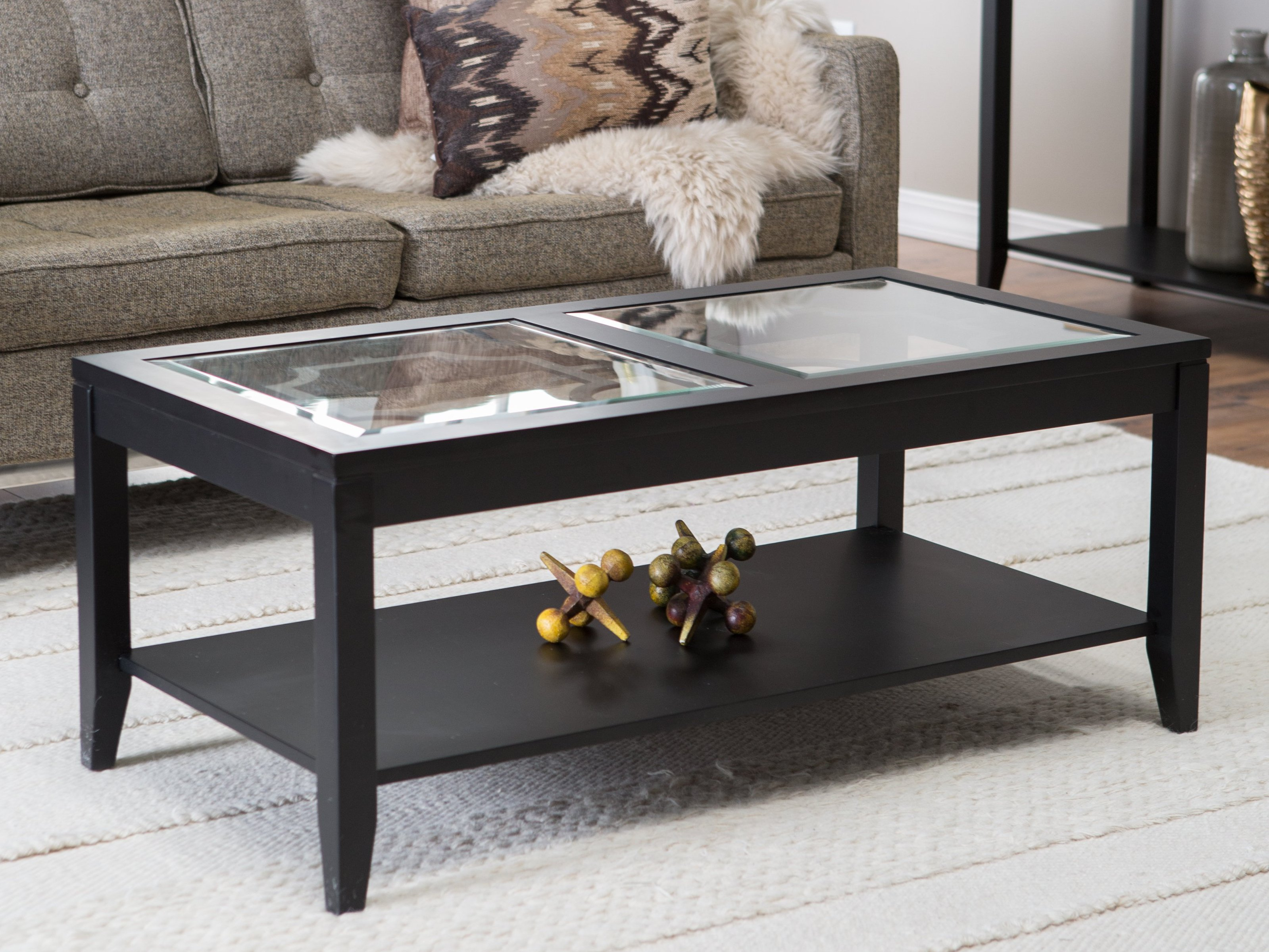 Rectangular coffee table design images photos pictures for Rectangular coffee table with glass top