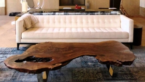 Gorgeous Wood Slab Coffee Table