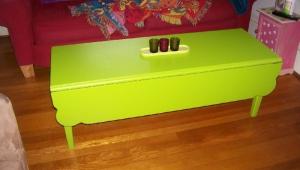 Green Drop Leaf Coffee Table