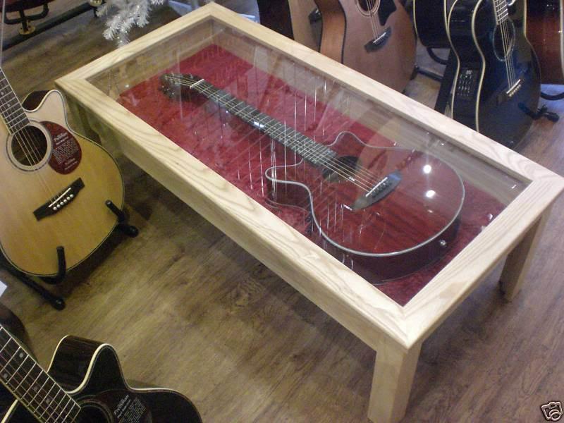 Guitar Glass Display Coffee Table
